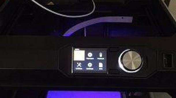 used Makerbot Replicator 5th Generation Desktop 3D Printer.