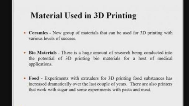 Material Used in 3D Printing